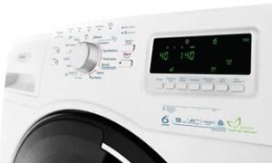 A 6. érzékes Infinite Care mosógép kezelő felülete.