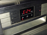 Bosch mosogatógép E24 hiba kijelzés