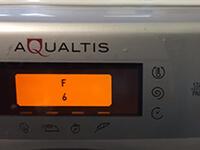 Az Ariston Aqualtis mosógép F6 hibajelzése