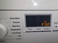 Siemens mosógép F32 hibajelzés